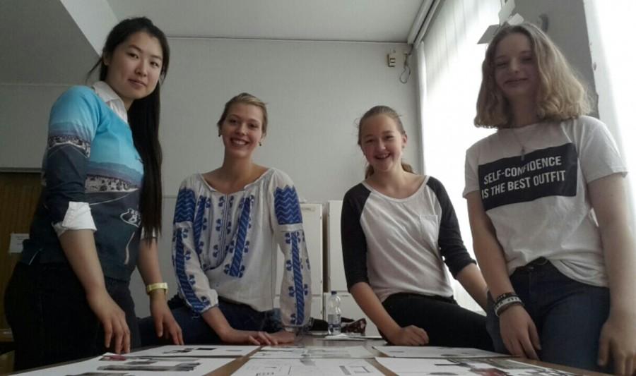 KWG-Schülerinnen Hui-Xia, Lisa, Julia und Madeleine.