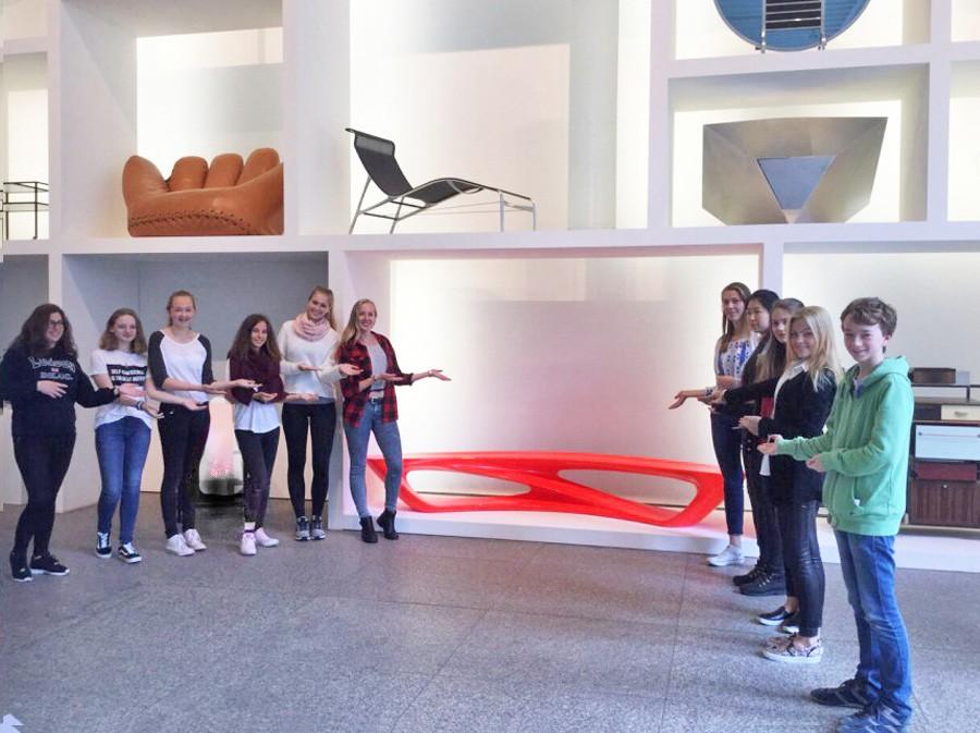 Schülerinnen und Schüler des FWG am letzten Tag der Projektwoche im MAKK.